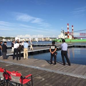 特別委員会の県内視察で三浦市城ケ島の海上釣堀「Jsフィッシング」 へ。