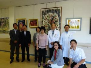地元南区の県立こども医療センター。塚田麻美さん作品展にて。